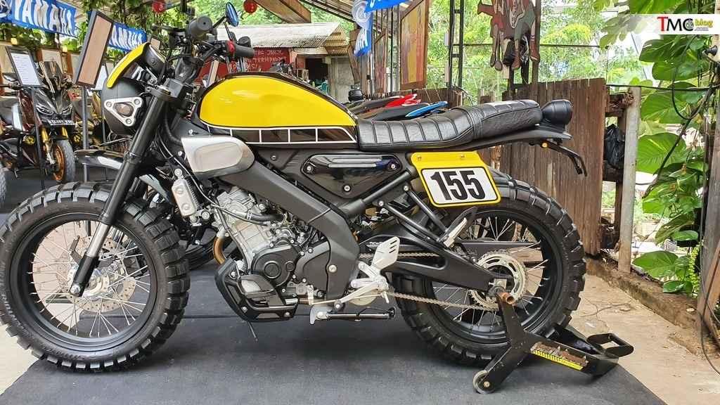 Yamaha-XSR155-Custom-Garapan-Katros-Garage-Keren