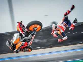 Marc-Marquez Mengalami-Kecelakaan-Motornya-Jumpalitan-Sesi Latihan-MotoGP-Thailand