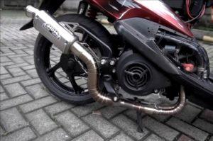 Modifikasi-Yamaha-Mio-Jadi Dua-Silinder-Sangar-Suara-Mesinnya