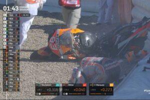 Marc Marquez Crash di sesi Free Practice 3 MotoGP Spanyol Sabtu (152021)