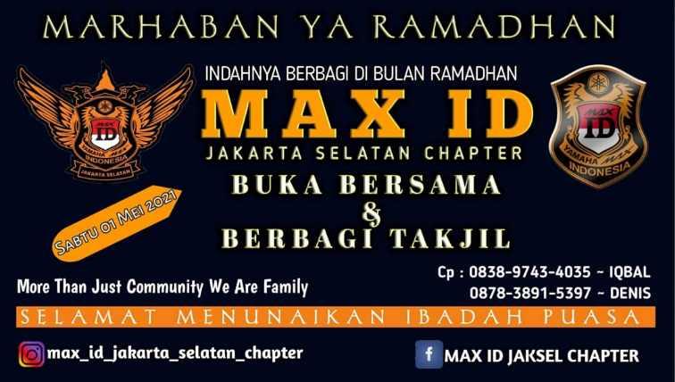 Max ID Jakarta Selatan Berbagi Takjil dan Berbuka Puasa Bersama di Bulan Ramadhan